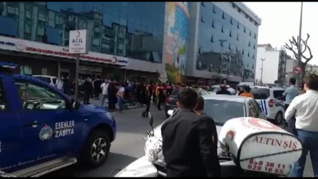 Esenler'de taksicilerin müşteri alma kavgası