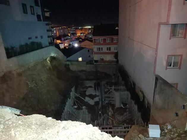 İnşaat temelinde toprak kayması yaşandı, 24 daire tahliye edildi