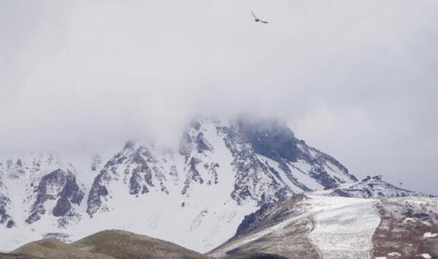 Yurtta haziran karı: Yaylalar ve zirveler beyaza büründü