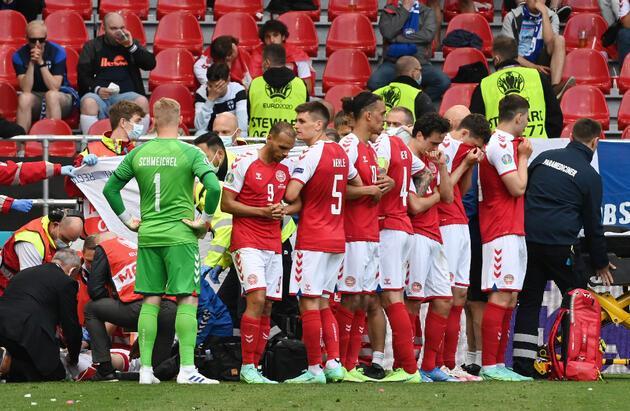 Son dakika... EURO 2020'de büyük şok! Christian Eriksen kalp krizi geçirdi