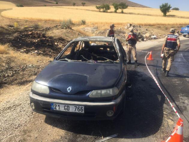 Yanan aracın yanında bulundu: Bombaları ben patlattım