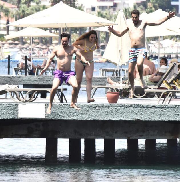 Pelin Akil ile Anıl Altan, Marmaris'te tatil sezonunu açtı