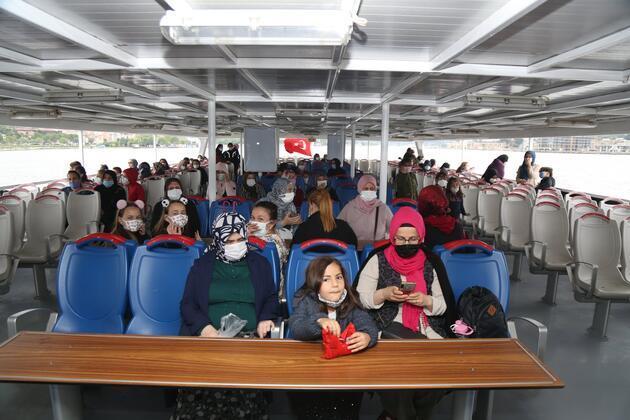 Kısıtlama sonrası kadınlar ve çocuklar için ücretsiz boğaz turları başladı