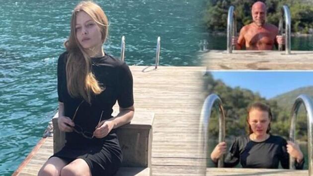 Naz Elmas, Bodrum'da tatilin tadını çıkarıyor