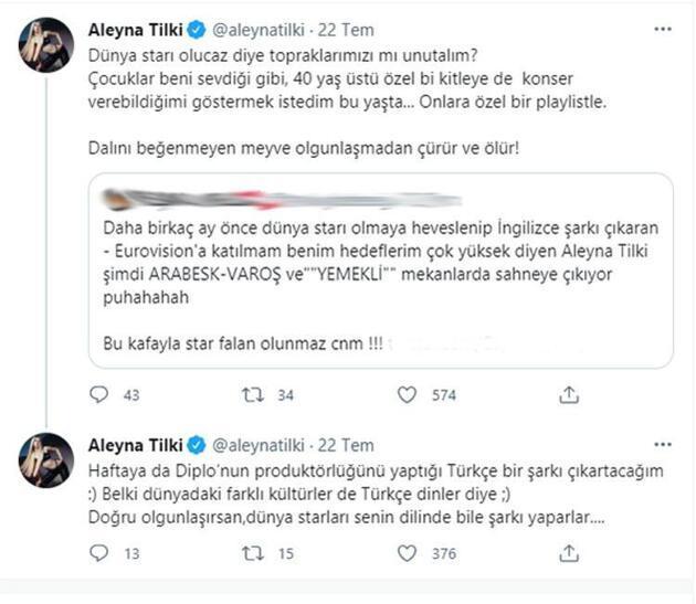 Aleyna Tilki'den kendisini eleştiren takipçisine jet yanıt