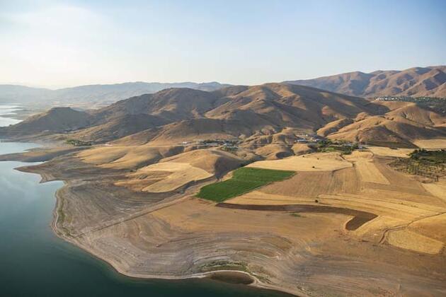 Tunceli'nin Pertek ve Mazgirt ilçelerindeki tarihi ve doğal güzellikler havadan görüntülendi
