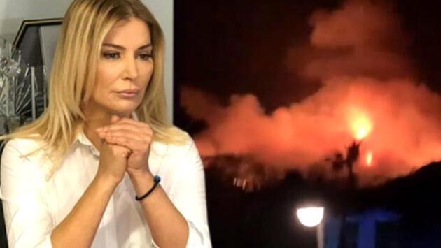 Songül Karlı, Fethiye'deki yangını görüntüledi: Bütün otel boşaltılıyor
