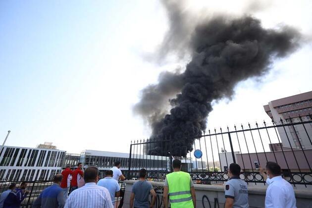 Ankara'da hastane inşaatında yangın