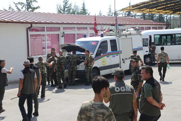 Yangınla mücadele sürüyor! Azerbaycan'dan gelen ikici ekip de Muğla'ya ulaştı