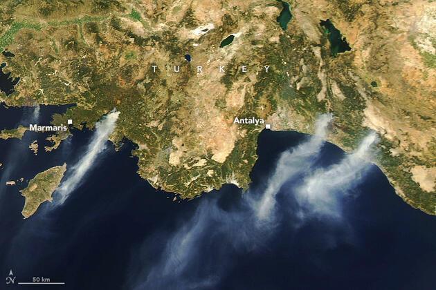 NASA'dan Türkiye açıklaması: Uydu fotoğraflarını yayınladı