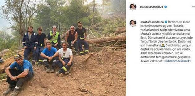 Orman yangınıyla mücadelede en ön saflarda! İbrahim Çelikkol'dan mesaj var