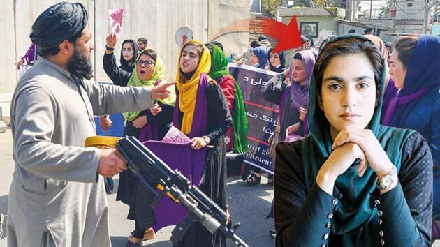 Afganistan'da Taliban'a karşı eylem yapan kadınlar: