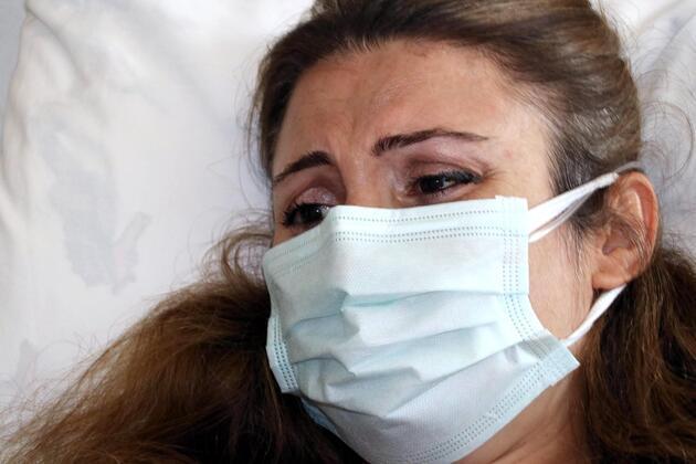Hamileyken koronavirüse yakalanan Duygu, bebeğini ilk kez tabletten gördü