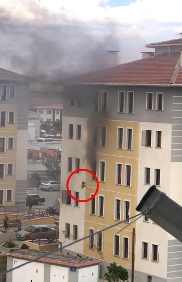 Yangında 5'inci kattan atlayan kadının eşi: Herkesten dua bekliyoruz