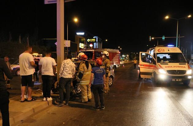 İzmir'de trafik kazası : 2 yaralı