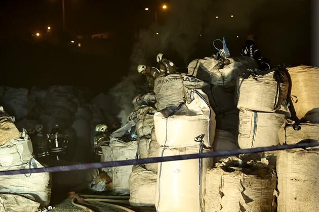 İstanbul Avcılar'da geri dönüşüm tesisinde yangın