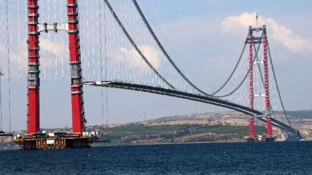 1915 Çanakkale Köprüsü adım adım tamamlanıyor