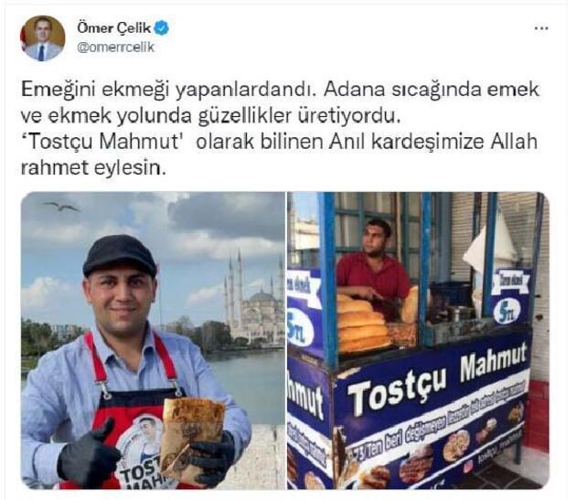 Adanalı 'Tostçu Mahmut' kazada yaşamını yitirdi