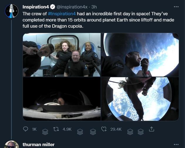 Tarihe geçmişlerdi: Uzay turistlerinden ilk fotoğraflar geldi