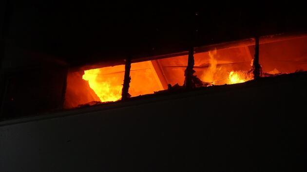 Orman ürünleri atölye ve deposunda yangın çıktı
