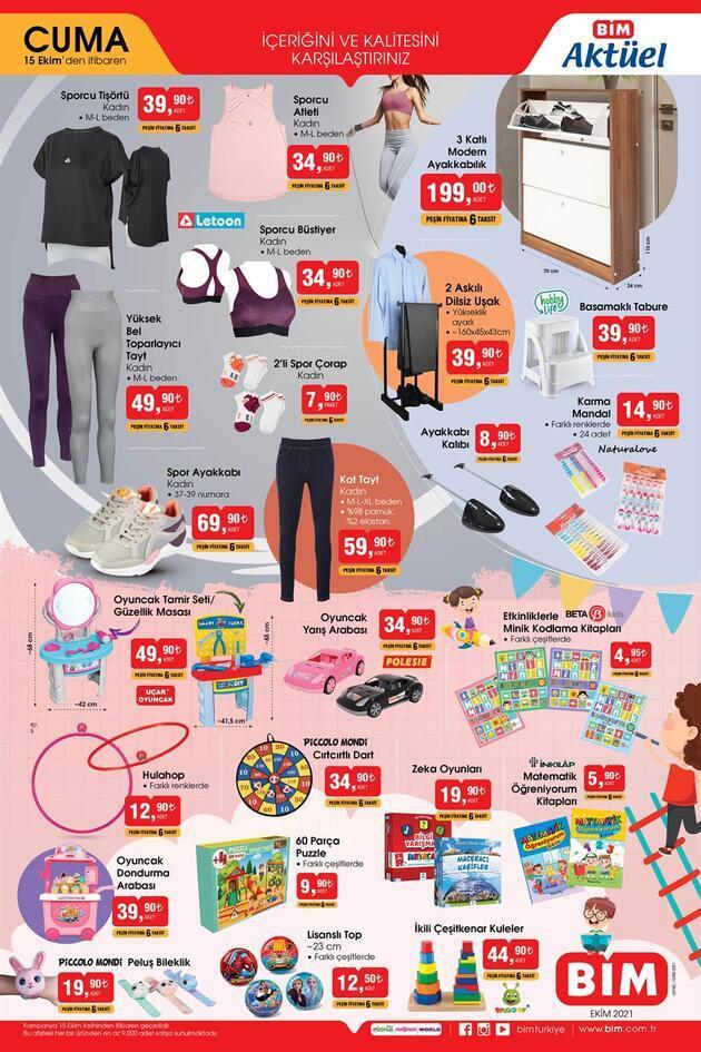 Bugün BİM aktüel 15 Ekim 2021 Cuma kataloğu satışta! Bu hafta BİM aktüel kataloğu ürünleri neler?