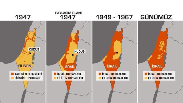 İsrail haritayı nasıl değiştirdi? - Dünya Haberleri