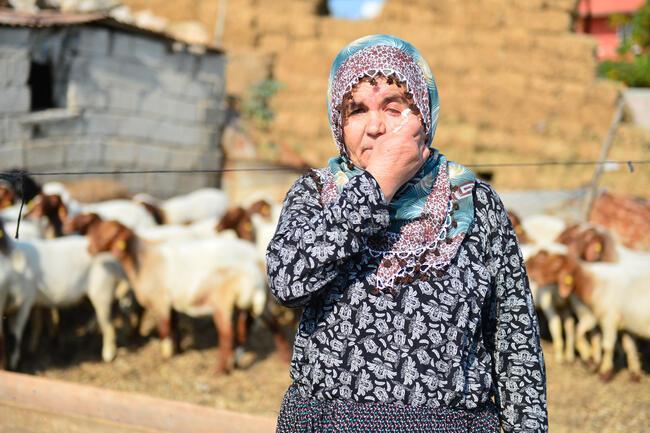 Koyunları çalınan Ayşe teyzenin gözyaşlarını Bakan Pakdemirli dindirdi