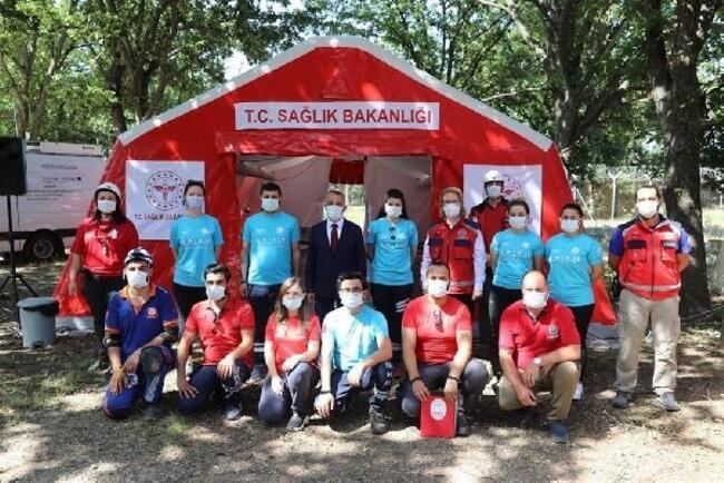 Kırklareli'de, UMKE ve AFAD ekiplerinden tatbikat