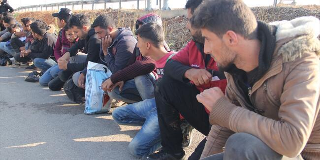 Hatay'da 102 göçmen yakalandı