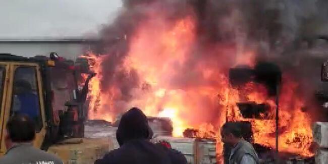 Son dakika: Çatalca'da korkutan yangın