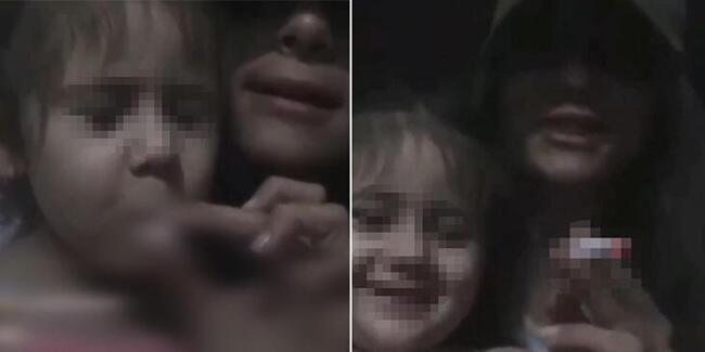 3 yaşındaki kuzenine canlı yayında sigara içiren kişi yakalandı