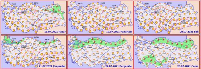 Bayramda hava durumu nasıl olacak? Kurban Bayramı 2021 hava durumu tahminleri 14