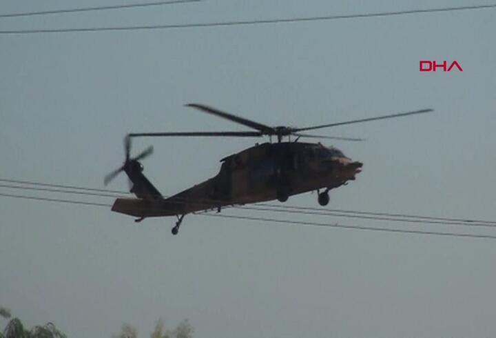 Suriye sınırında helikopter hareketliliği