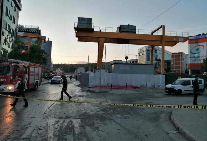 Pendik'te metro inşaatında kontrollü patlatma