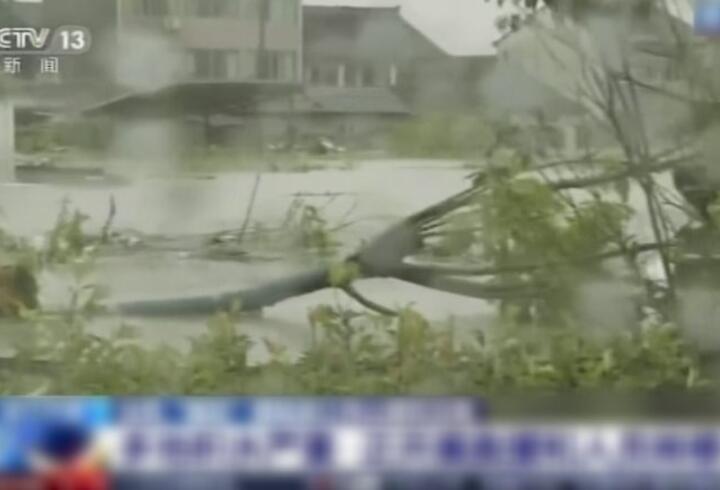 Çin'i bu kez de tayfun vurdu