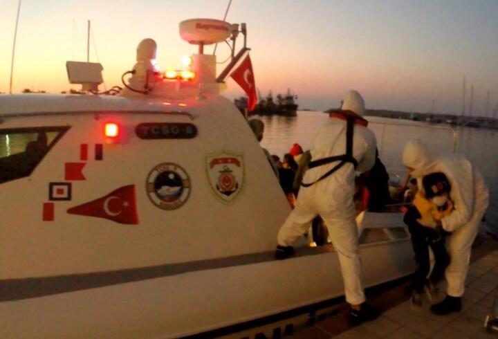 Yunanistan'ın Türk karasularına ittiği 47 göçmeni Sahil Güvenlik kurtardı