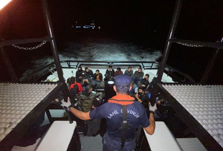 Çanakkale açıklarında gemide 35 kaçak göçmen yakalandı