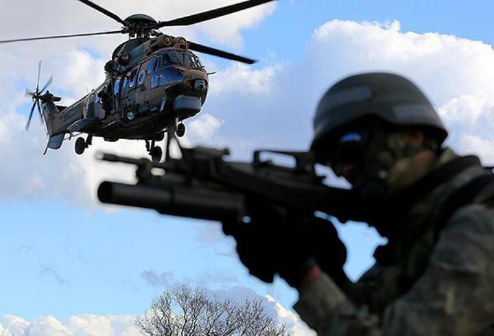 4 terörist ATAK helikopterleri ile etkisiz hale getirildi