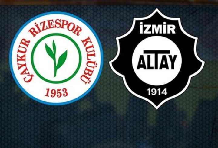Çaykur Rizespor Altay maçı hangi kanalda, ne zaman, saat kaçta?