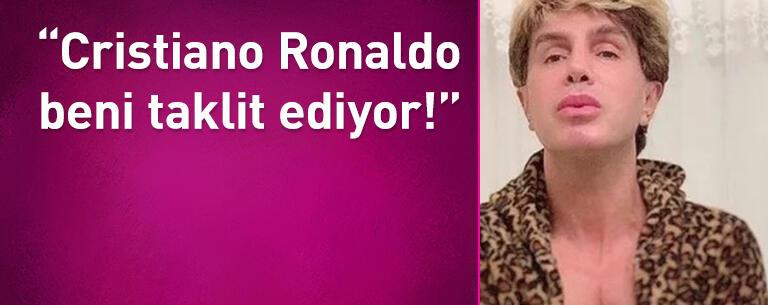 Cristiano Ronaldo beni taklit ediyor!