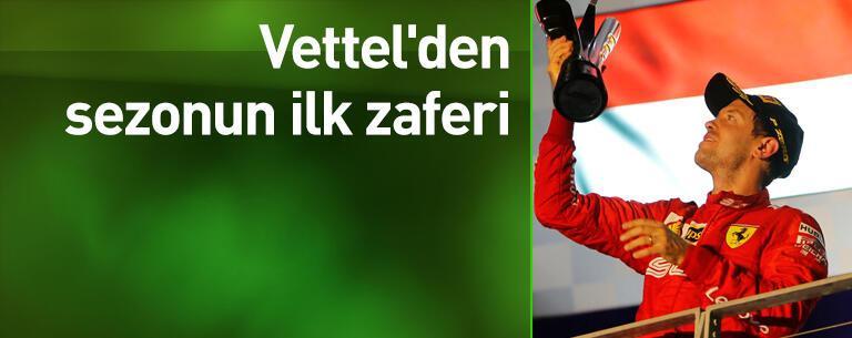 Vettel'den sezonun ilk zaferi