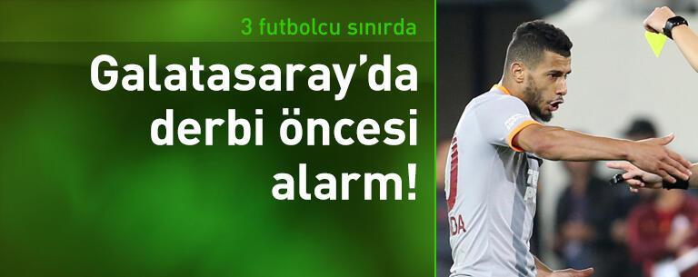 Galatasaray'da derbi öncesi 3 futbolcu sınırda