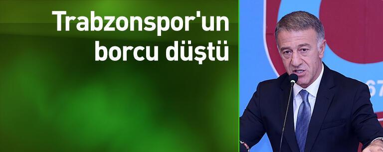 Trabzonspor'un borcu düştü