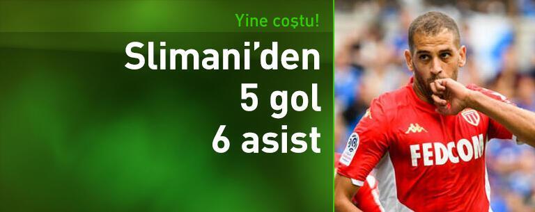 Slimani yine coştu! 5 gol, 6 asist