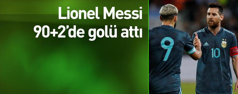 Messi 90+2'de beraberliği getirdi