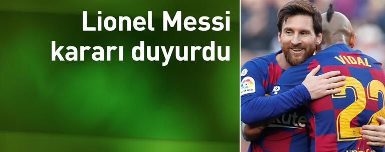 Messi kararını duyurdu