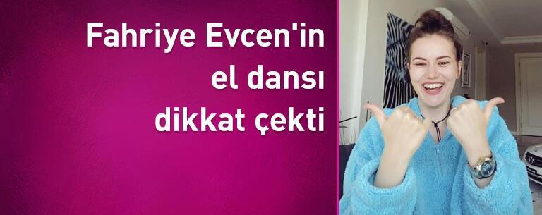 Fahriye Evcen'den el dansı