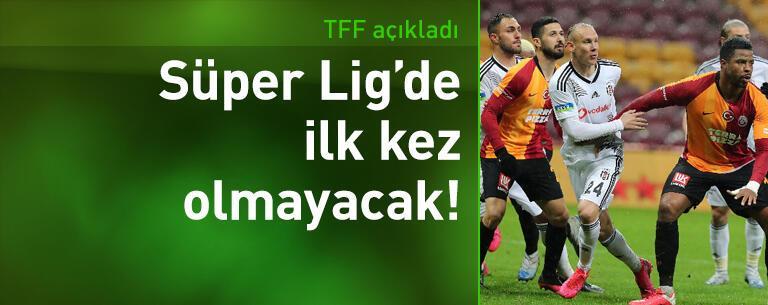 Haziran maçları Süper Lig'de ilk olmayacak