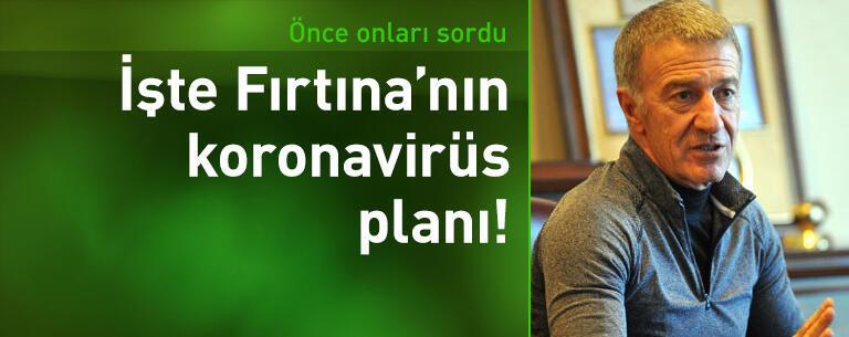 İşte Trabzonspor'un koronavirüs planı