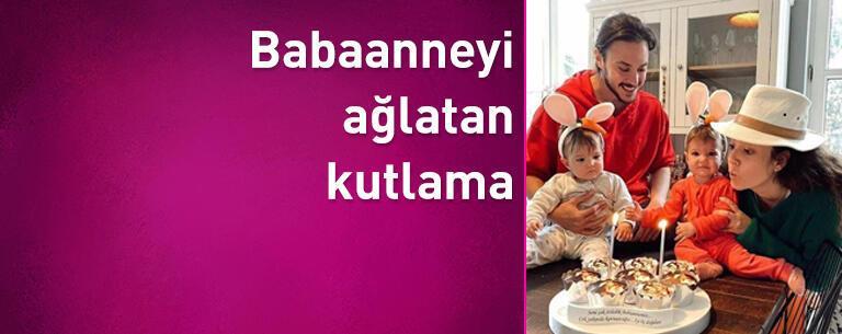 Pelin Akil ve Anıl Altan'dan babaanneyi ağlatan kutlama